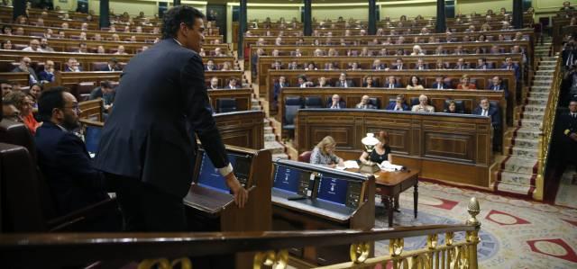 El líder del PSOE, Pedro Sánchez, este miércoles.